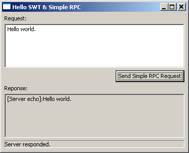 Tutorial of Java2Script SWT and Simple RPC Application